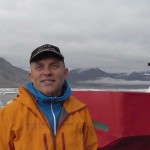 Ivar Bertelsen - owner of Boreal Yachting - during his emergency visit to Svalbard